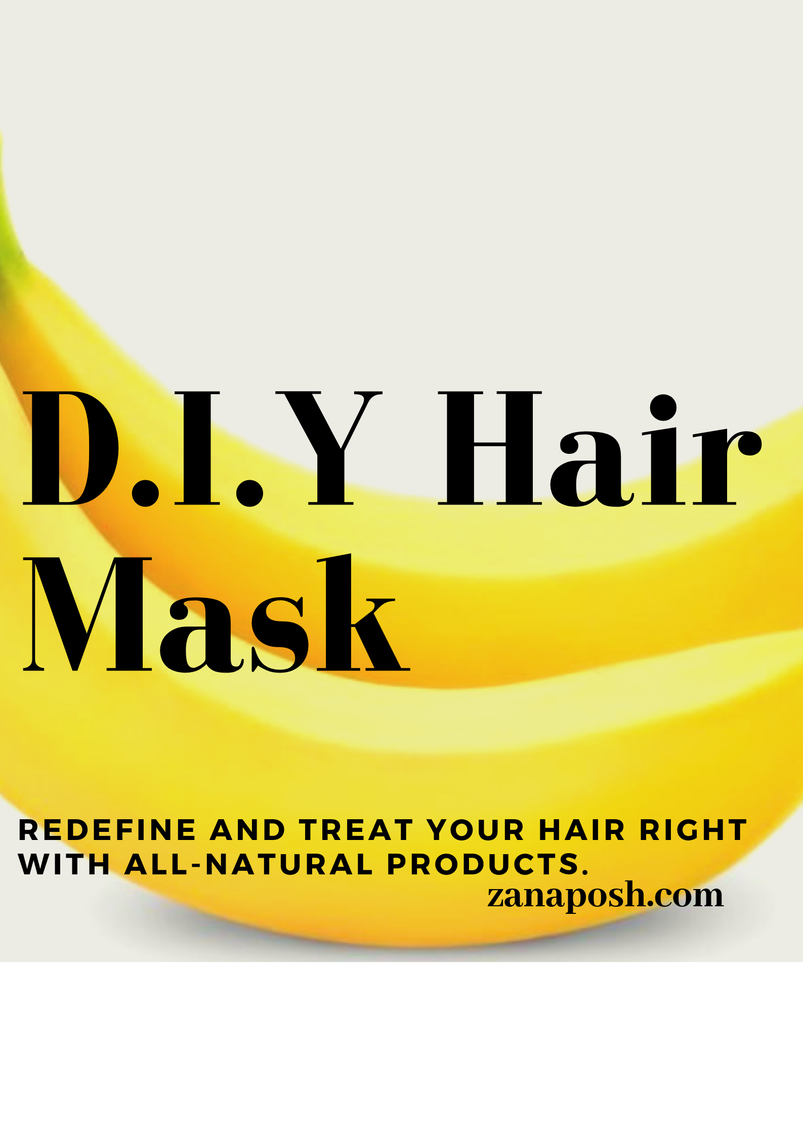 D.I.Y Hair Mask Routine.